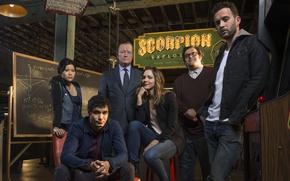 Picture girl, man, Scorpion, pose, cast, tv series