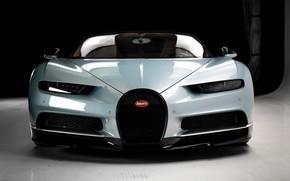Picture Bugatti, Front, Silver, VAG, Aerodynamic, Chiron
