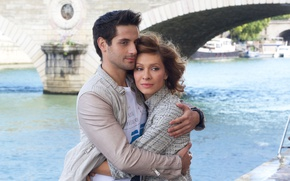 Picture river, woman, hugs, Kitchen, male, lovers, Mark Bogatyrev, Elena Armin Van Buuren