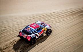 Picture Sand, Auto, Sport, Machine, Speed, Race, Top, Peugeot, Red Bull, 308, Rally, Dakar, Dakar, SUV, …