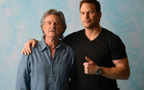 Wallpaper Kurt Russell, Chris Pratt, Guardians Of The Galaxy. Part 2, Chris Pratt, photoshoot, Guardians of ...