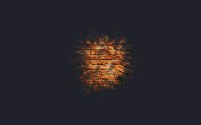 Picture macro, wall, minimalism, brick, brick wall