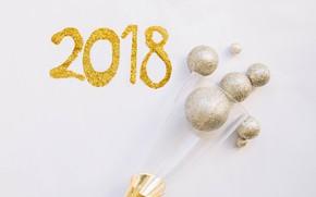 Picture new year, 2018, tsyfry, jubilee, Shampanskoe