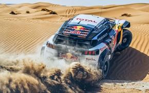 Picture Sand, Auto, Sport, Machine, Speed, Peugeot, Red Bull, Rally, Dakar, Dakar, SUV, Rally, Sport, The …