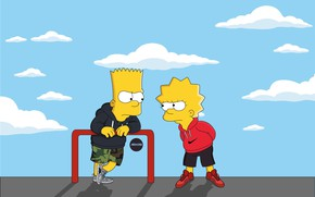 Wallpaper The simpsons, Figure, Adidas, Simpsons, Bart, Art, Adidas, Lisa, Nike, Cartoon, The Simpsons, Nike, Character, ...
