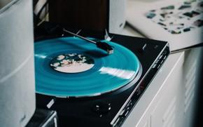 Wallpaper player, column, vinyl, record