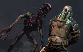 Picture monster, soldiers, undead, Dead Space 3