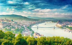 Picture summer, the city, blur, bokeh, clear day, view, Hungary, Hungary, Budapest, travel, Budapest, wallpaper., my …
