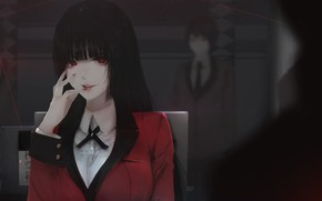 Picture girl, interior, manga, by Aoi Ogata, Jabami Yumi Located In, Kakegurui
