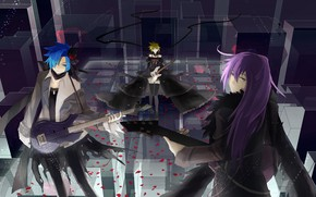 Picture girl, music, guy, guys, Vocaloid, Vocaloid, Kaito
