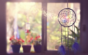Picture talisman, Dreamcatcher, window, background