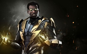 Wallpaper lightning, uniform, Black Lightning, Injustice 2, DC, spark, hero, DC Comics, super hero, suit, game
