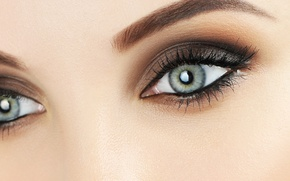 Picture eyes, female, make up