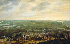 Picture landscape, picture, Pauwels of Hillegaert, The retreat of the Spanish Garrison after the Surrender