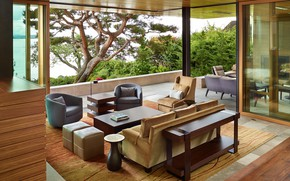 Wallpaper living room, interior, Villa
