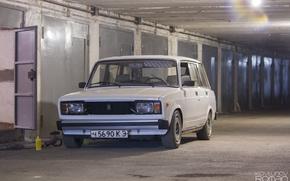 Picture garage, white, white, VAZ, lada, universal, 2104