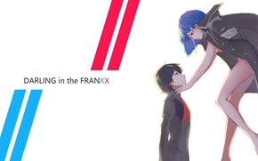 Wallpaper demon, girl, devil, anime, pretty, Ichigo, strong, sugoi, Hiro, anime girl, Darling in the FranXX, ...