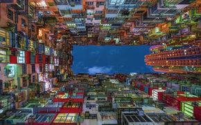 Picture the sky, light, the city, lights, up, home, China, China