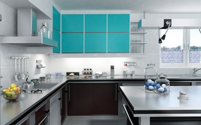 Wallpaper design, kitchen, furniture, design