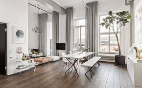 Picture style, interior, dining room, Apartment in Stockholm