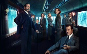 Picture Johnny Depp, train, the car, Johnny Depp, actors, detective, Penelope Cruz, characters, crime, Judi Dench, …