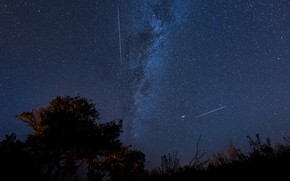 Picture space, stars, drop, the milky way, the Perseids