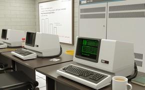 Picture computer, techno, computer