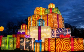 Wallpaper The festival of light, Christmas, England, gifts, Longleat