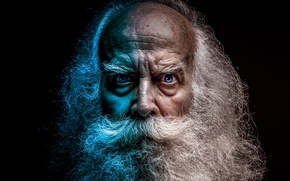 Wallpaper face, photo, grandpa, beard, photo, face, beard, gray hair, gray, bald, grandpa, Grandfather, Grandfather, baldness