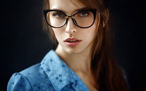Wallpaper close up, bokeh, lips, portrait, model, looking at camera, brown eyes, brown hair, Georgy Chernyadyev, ...
