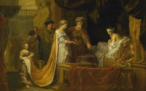 Picture oil, picture, mythology, Antiochus and stratonice, Gerard de Lares