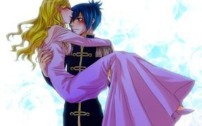 Picture romance, anime, two, Elena, Katekyo Hitman REBORN!, Demon Spade
