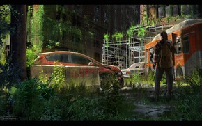 Picture devastation, cars, desolation, Empty Streets