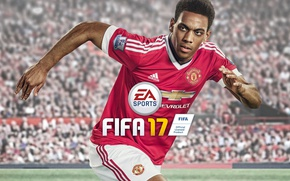 Picture Chevrolet, sport, logo, lion, stadium, football, crowd, Manchester United, Fifa, player, Electronic Arts, fans, EA …