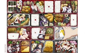 Picture box, figure, Schoolgirls, lunch, sailor, snacks, ben-to, Hana Oshiroi, Ayame Shaga, Ume Shiraume, Chapatsu, Long ...