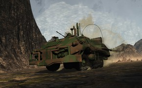 Picture machine, mountains, transport, scout action vallei, Long Range Recon Vehicle