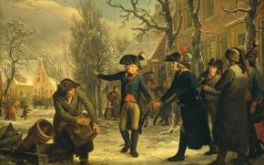 Picture tree, oil, picture, genre, Adriaan de Lelie, General Daendels Goodbye, Lieutenant Colonel Krithia, Adrian De …
