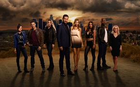 Wallpaper the sky, look, the city, actors, the series, Movies, Lucifer, Lucifer