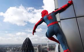 Picture cinema, spider, logo, sky, cloud, boy, Marvel, movie, Spider-man, hero, Boy, film, mask, Spiderman, uniform, …