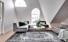 Picture room, interior, living room, Scandinavian style, Apartment in Stockholm