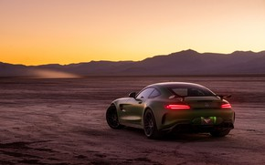 Picture green, style, the evening, Mercedes GTR