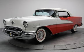 Picture Retro, Convertible, 1955, Oldsmobile, Luxury, Starfire