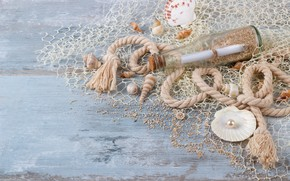 Picture sand, bottle, shell, wood, sand, marine, still life, pearl, seashells, perl