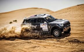 Picture Sand, Mini, Black, Sport, Desert, Speed, Race, Rally, SUV, Rally, Dune, X-Raid Team, 210, MINI …