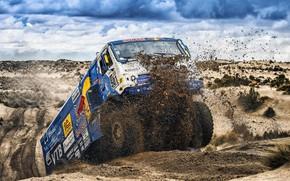 Picture The sky, Sand, Nature, Sport, Truck, Race, Master, Beauty, Russia, Kamaz, Rally, Dakar, Dakar, Rally, …