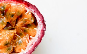Picture the flesh, fruit, passion fruit