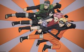 Picture anime, art, Naruto, Naruto, team 7