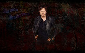 Picture black, the series, the vampire diaries, vampires, Ian somerhalder, Damon Salvatore