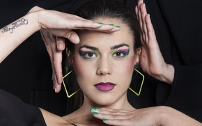 Picture girl, style, model, hands, makeup, Irene Tapia