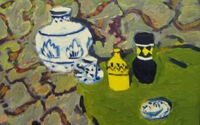 Picture 2008, plate, still life, otenki green, The petyaev